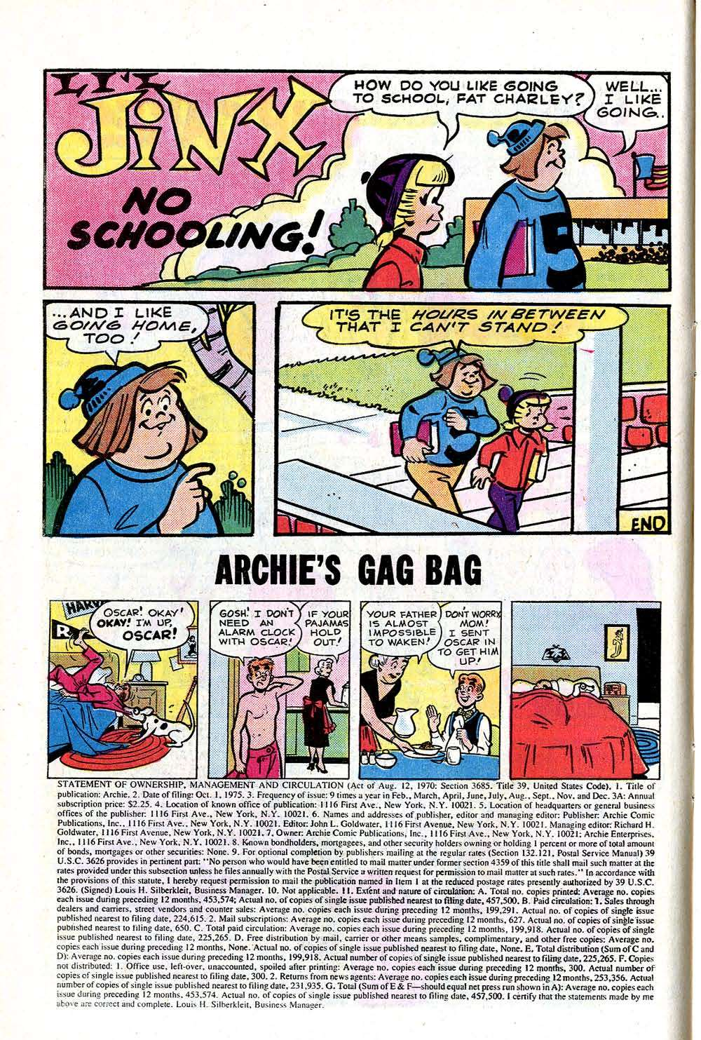 Read online Archie (1960) comic -  Issue #252 - 10