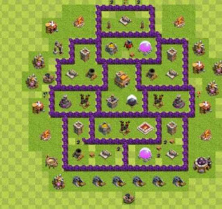 Susunan Base Clash of Clans Town Hall 7 Hybrid