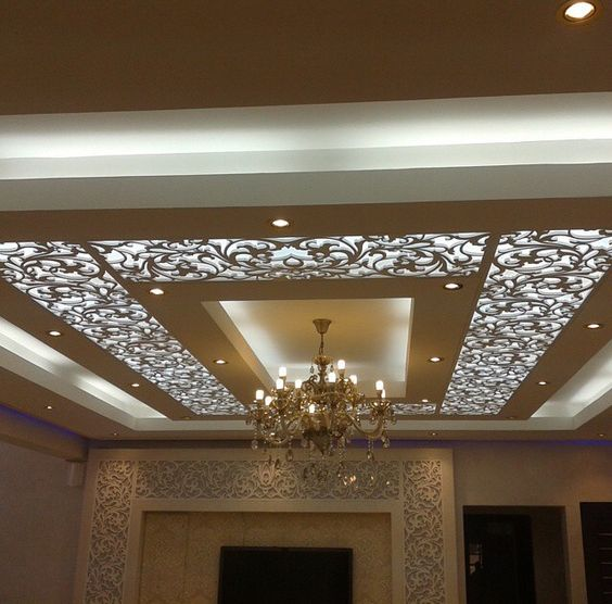 20 False Ceiling Decorating With CNC Wooden Designs That Will Make Your House Awesome Modern