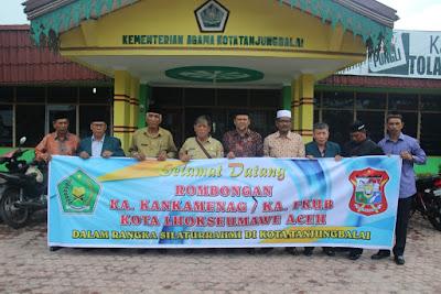 Kemenag Tanjungbalai Terima Kunjungan FKUB dan Kemenag Kota Lhoksemawe