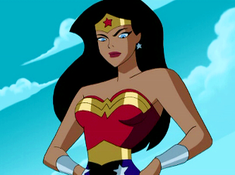 Sexy cartoon wonder woman