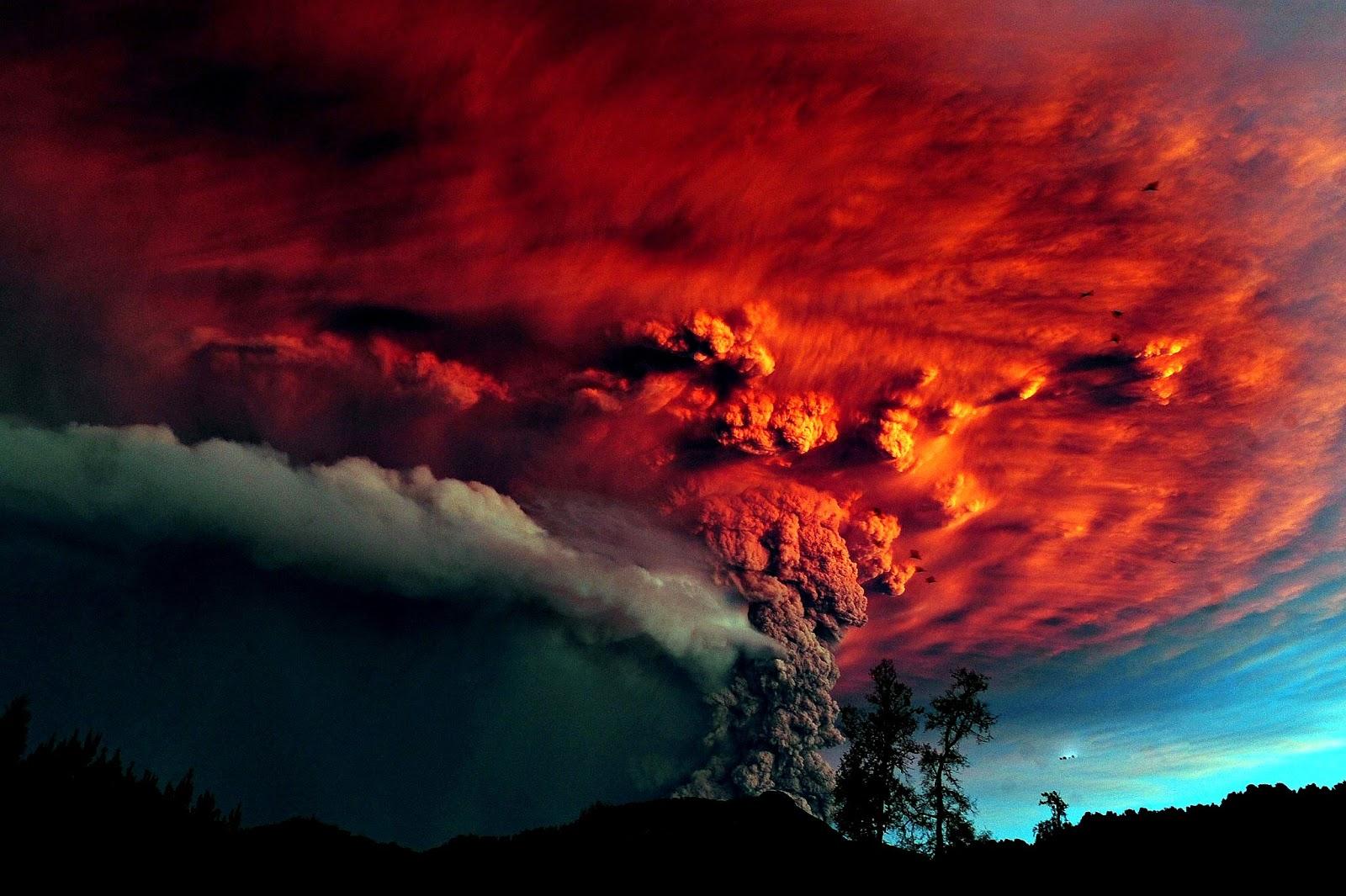 Puyehue Volcano Eruption