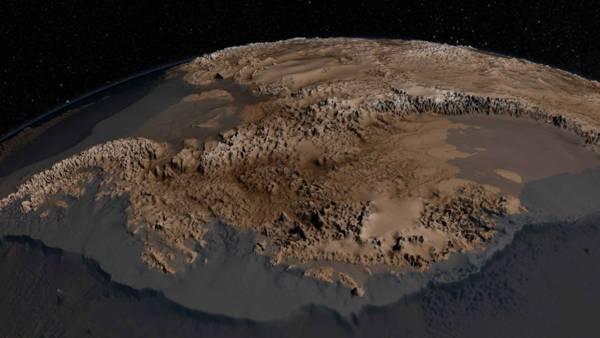 Así es como se vería la Antártida sin la gruesa capa de hielo.