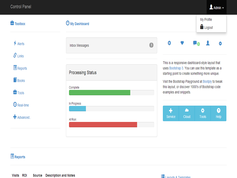 freedownloadtemplates: Bootstrap free template for admin