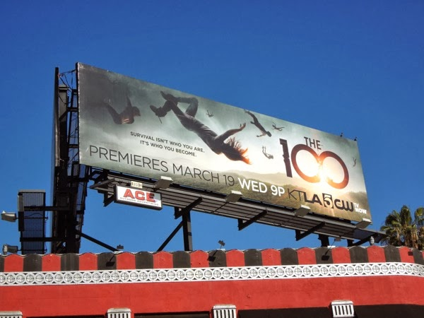 The 100 series launch billboard