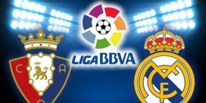 موعد مباراة ريال مدريد واوساسونا القادمة والقنوات الناقلة لمباراة ريال مدريد واوساسونا في الدوري الإسباني الممتاز