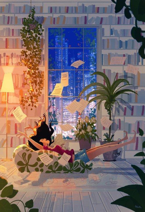 Pascal Campion deviantart arte ilustrações singelas românticas cotidiano lírico