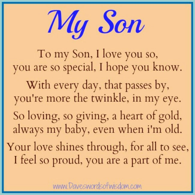 To My Son On Father S Day Quote: Daveswordsofwisdom.com: A Poem To My Son