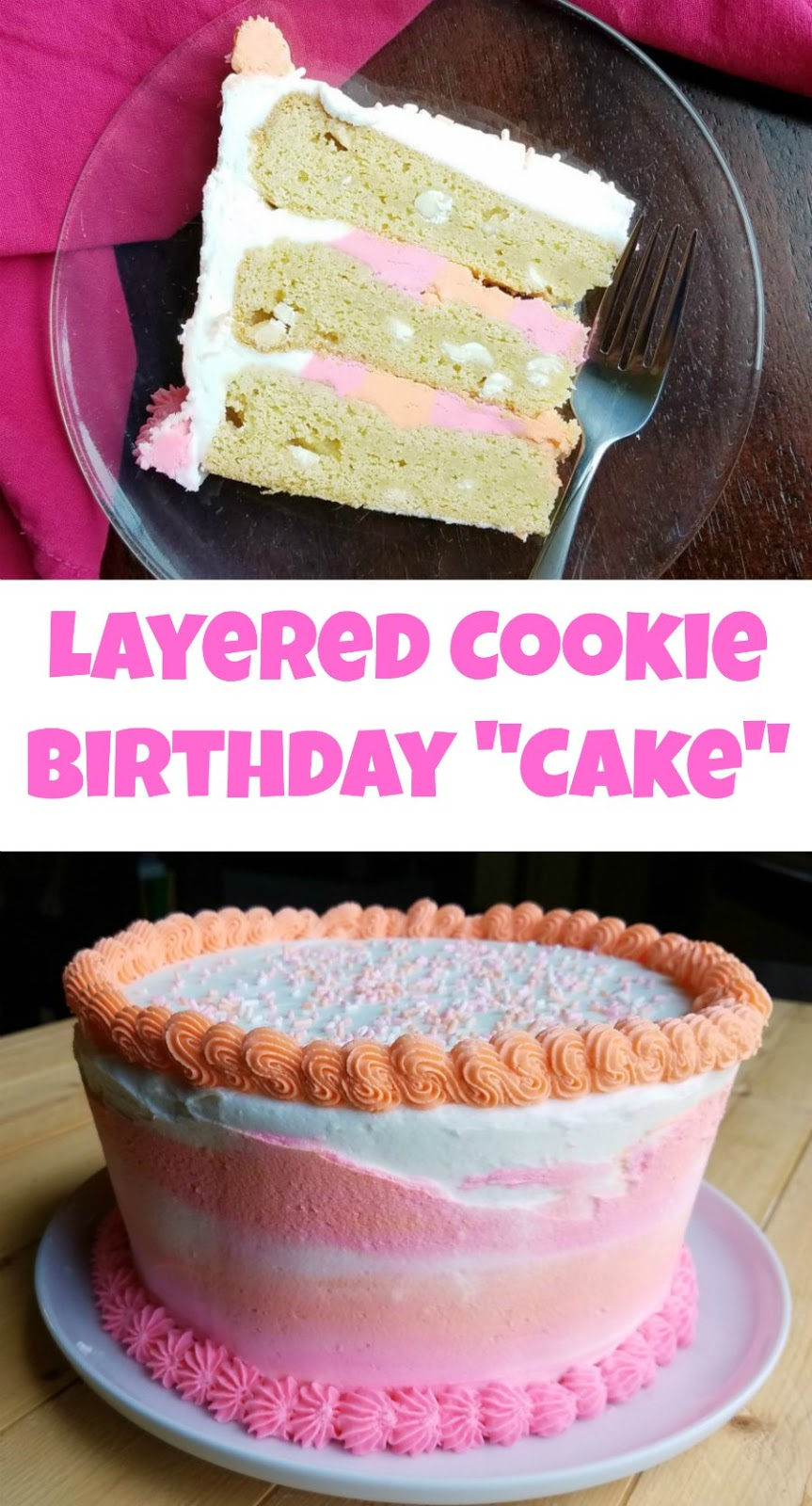 Cooking With Carlee Layered Cookie Birthday Cake