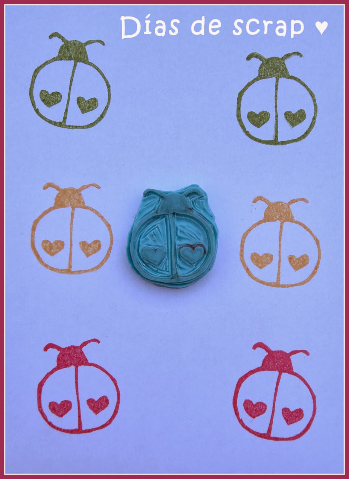 sello handmade mariquita stamp diy