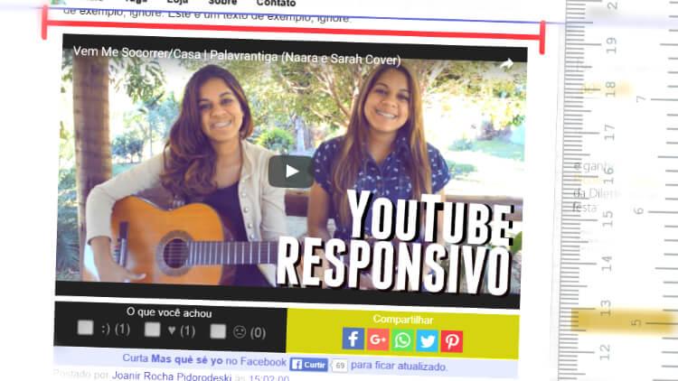 Youtube: incorporação responsiva