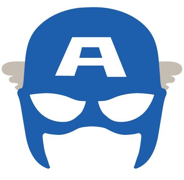 Bau Da Web Mascara Do Capitao America Para Imprimir