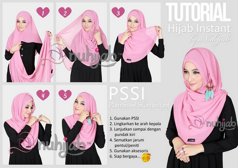 Tutorial Hijab Modern Hoodie Style Terkini 2016
