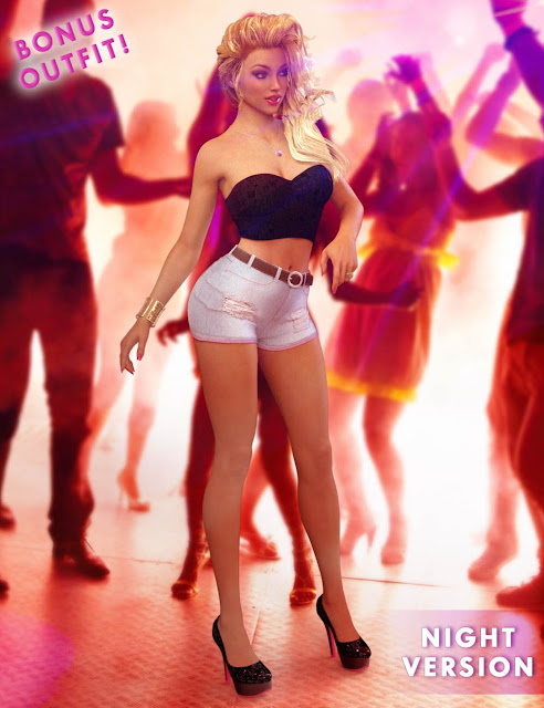 Shorts Jeans Outfit for Genesis 3 Female