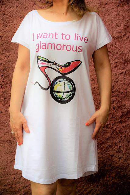 Mini dress slogan d'arte