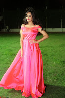 Actress Pujita Ponnada in beautiful red dress at Darshakudu music launch ~ Celebrities Galleries 040.JPG