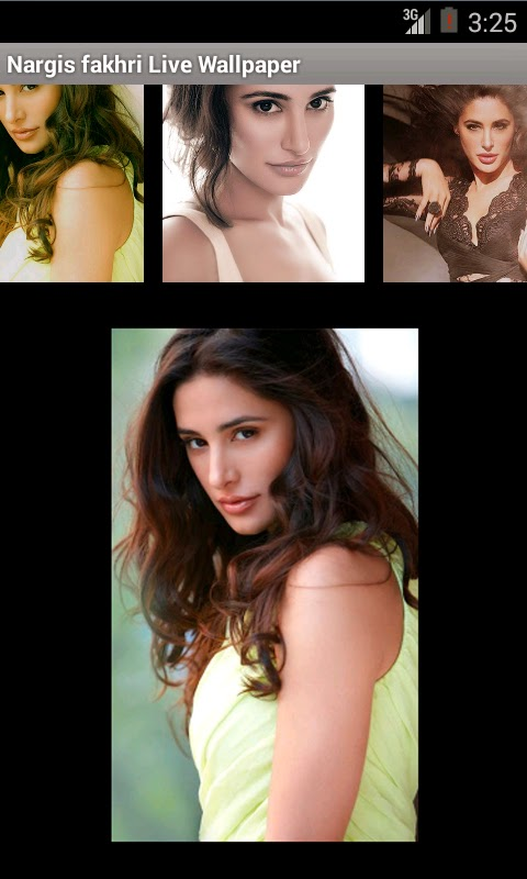 Nargis Fakhri 3D live wallpaper For Android Mobile Phone