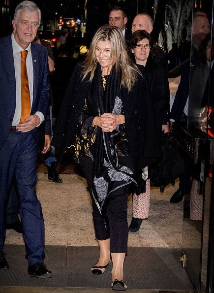 Queen Maxima of The Netherlands arrived Lagos city in Nigeria for a three day visit. United Nations. Salvatore Ferragamo flat shoes