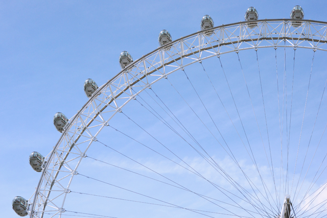 London Eye and blue sky