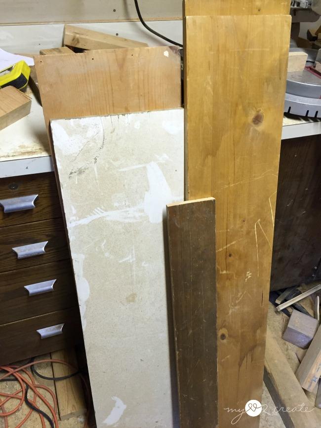 wood to build Hanging Storage Shelf, MyLove2Create