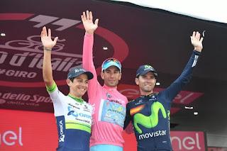 CICLISMO EN RUTA - Giro de Italia 2016: Nibali consigue con mucho sufrimiento su 2º Giro y con Valverde en el podio