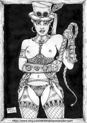 Steampunk Fetish Erotic  Art