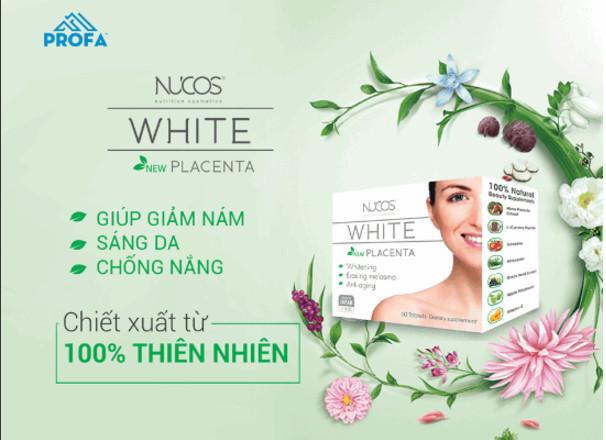 Viên uống trị nám Nucos White Placenta sản phẩm chính hãng Nhật Bản
