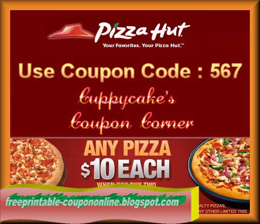 Pizza hut online discount coupon