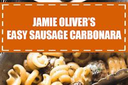 Jamie Oliver's Easy Sausage Carbonara