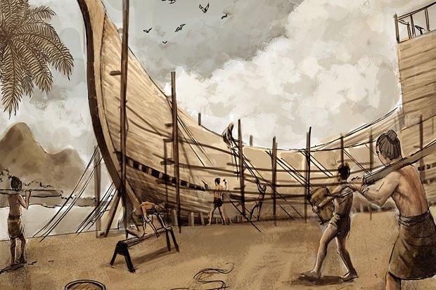 Ilustrasi pembuatan kapal