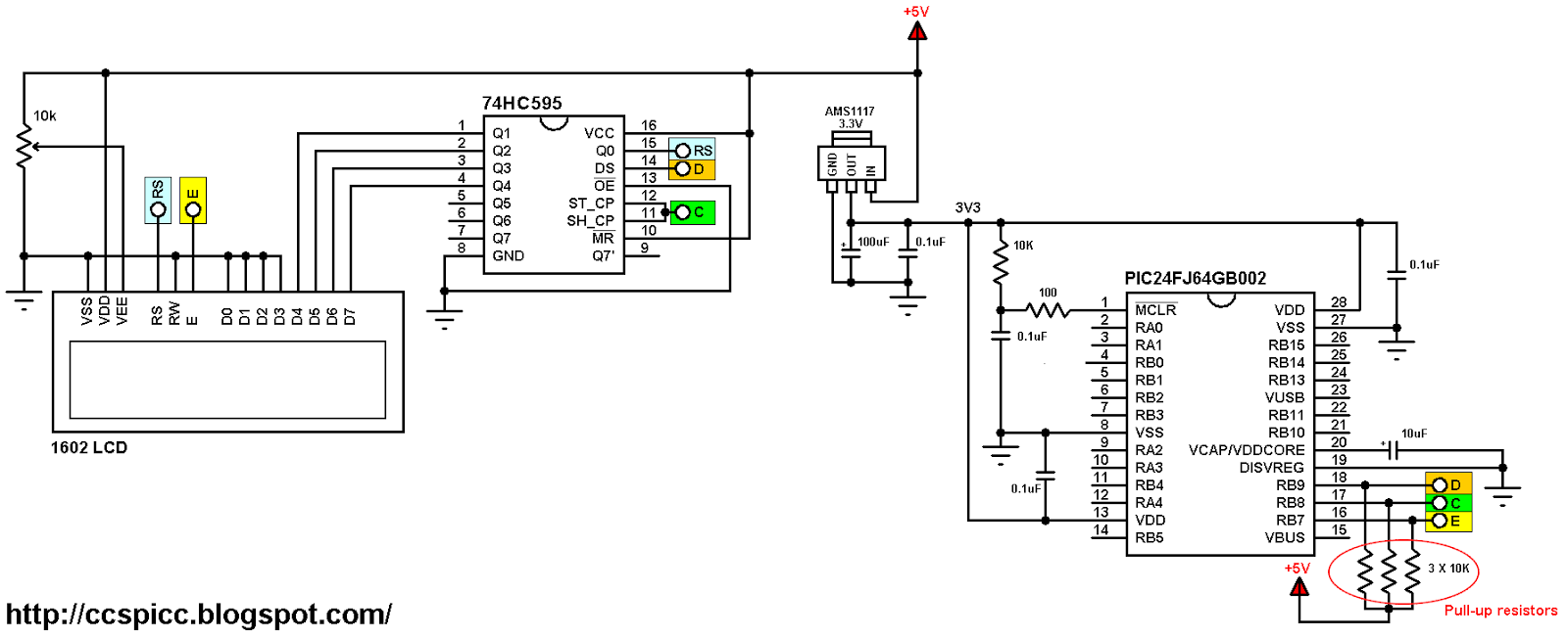 Interfacing PIC24FJ64GB002 with LCD