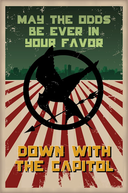 The Hunger Games Down With The Capitol Poster