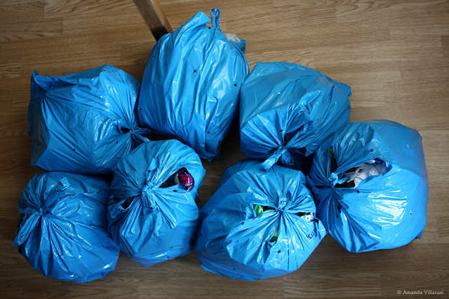 The household plastic waste we've generated the past month