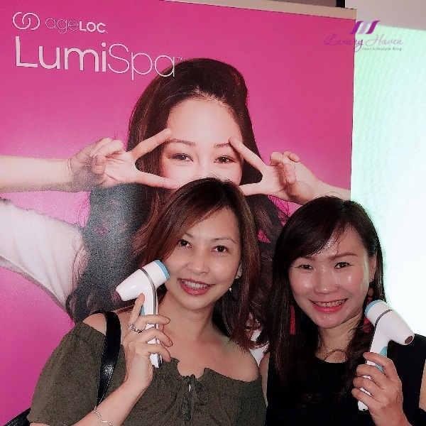 beauty influencers nuskin ageloc lumispa event coffee academics