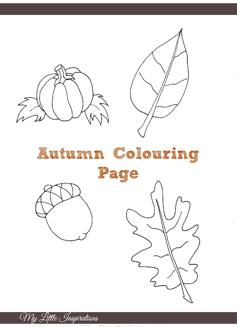Fall Coloring Page - My Little Inspirations