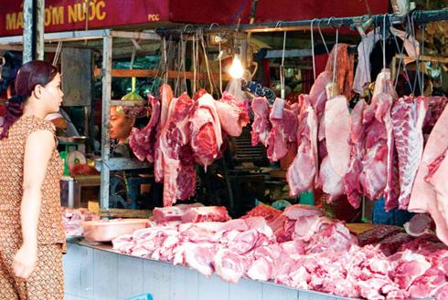 thịt lợn tiêm hoá chất