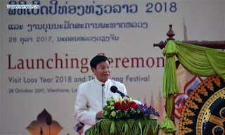 "Lao Prime Minister Thongloun Sisoulith launches the ""Visit Laos Year 2018"""