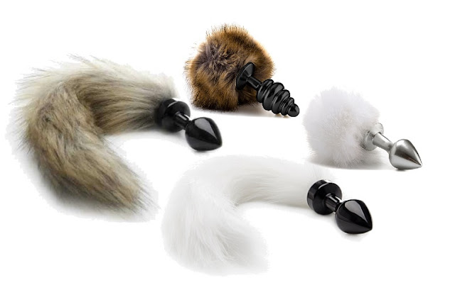 Ouch! Faux Fur Tail Plugs at The Spot Dallas
