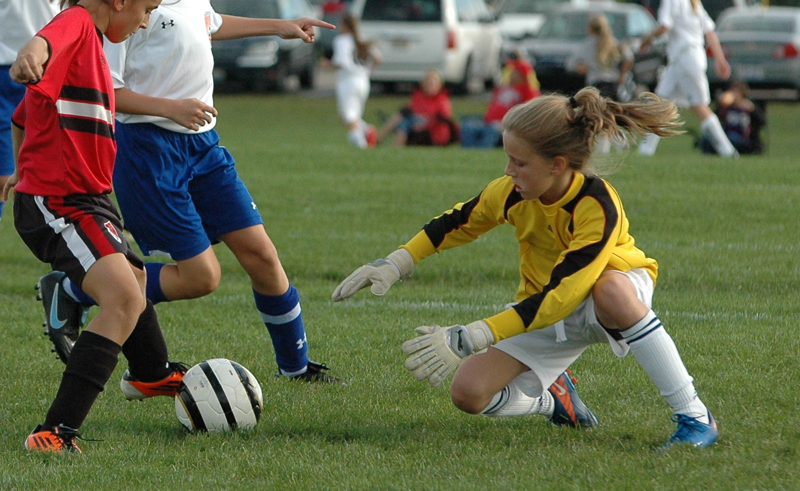 youth soccer sports willing ready action able equipment shots goalie recommend camera start right stats