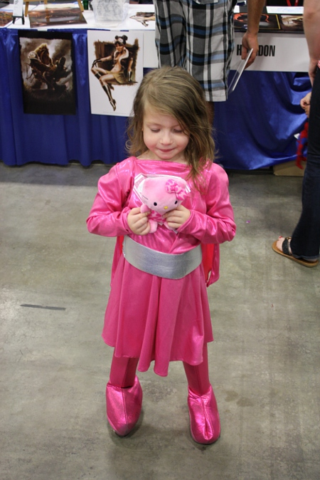 My daughter in her Supergirl costume. She got a little pink Hello Kitty at the expo and is still excited about it.  sc 1 st  Bryan Collins & Bryan Collins: 2011 Albuquerque Comic Expo Summary