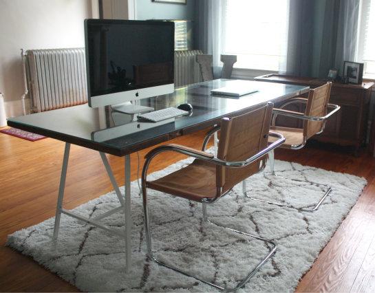 Repurposed From Door To Desk 17 Apart