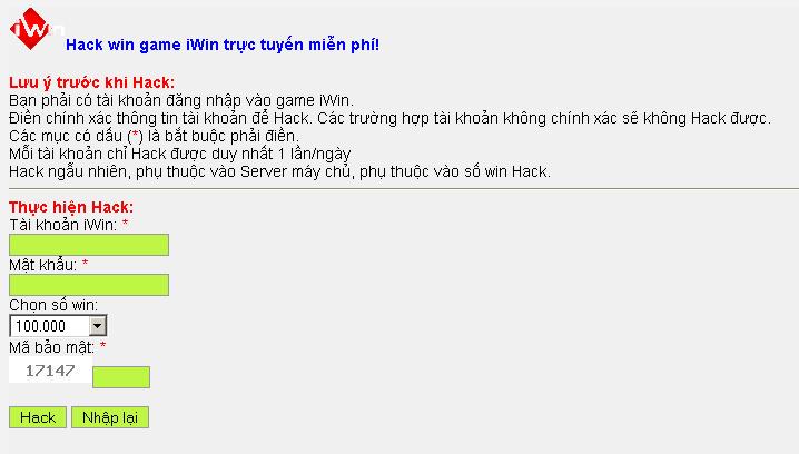 Cách hack win trong iwin thành công 100%