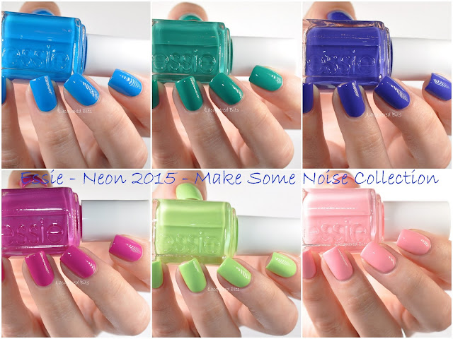 Essie Neon 2015 - Make Some Noise Collection - Swatches & Review