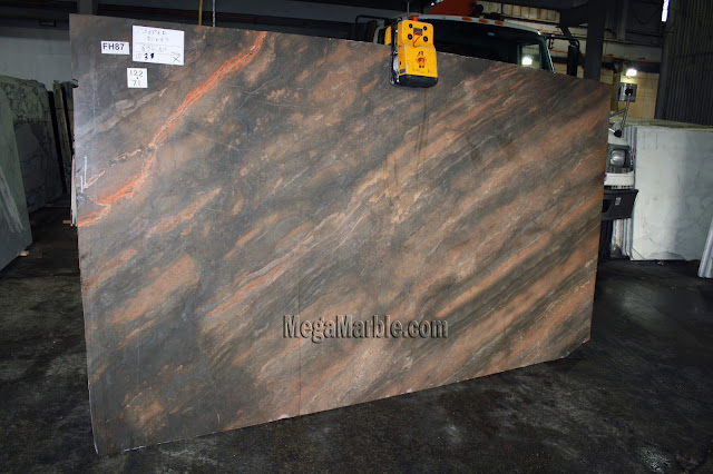 Copper Dunes marble slabs for countertops