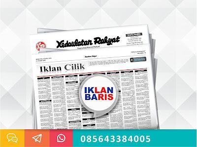 Pasang Iklan baris koran Kedaulatan Rakyat