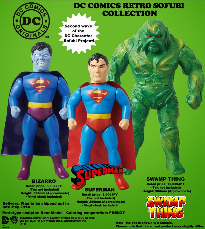DC Comics Retro Sofubi Collection Wave 2 by Medicom - Superman, Swamp Thing & Bizarro