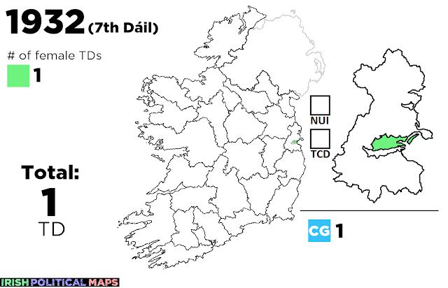 Irish Political Maps: Women in the Oireachtas: Dáil
