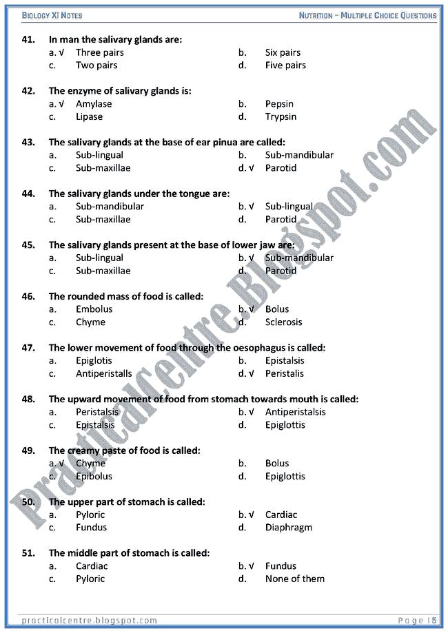 nutrition-mcqs-biology-xi