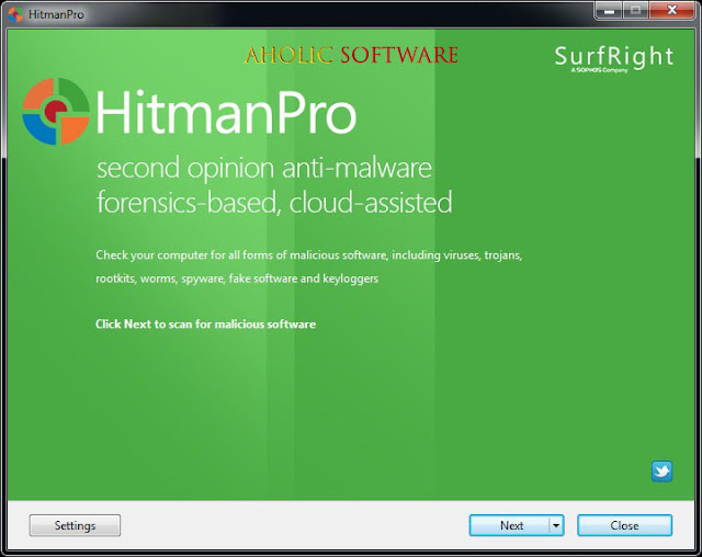 HitmanPro - A powerful application that can detect and remove most viruses that could come in contact with your computer.