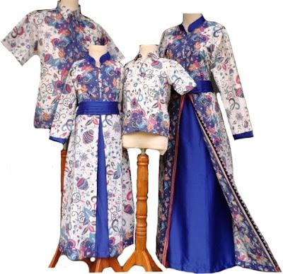 20 Model Baju Batik Keluarga Seragam Pernikahan Terbaru